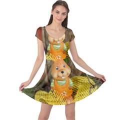 Easter Hare Easter Bunny  Cap Sleeve Dresses