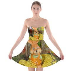 Easter Hare Easter Bunny  Strapless Bra Top Dress