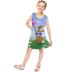 Easter Spring Flowers Happy Kids  Tunic Dress