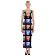 Email At Internet Computer Web Fitted Maxi Dress