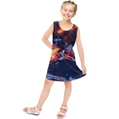 Fire Embers Flame Heat Flames Hot Kids  Tunic Dress