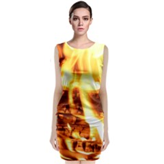 Fire Flame Wood Fire Brand Classic Sleeveless Midi Dress
