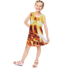 Fire Flame Wood Fire Brand Kids  Tunic Dress