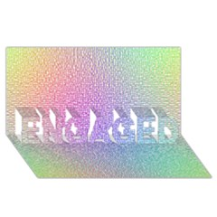 Rainbow Colorful Grid Engaged 3d Greeting Card (8x4)