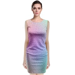 Rainbow Colorful Grid Classic Sleeveless Midi Dress
