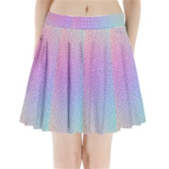 Rainbow Colorful Grid Pleated Mini Skirt