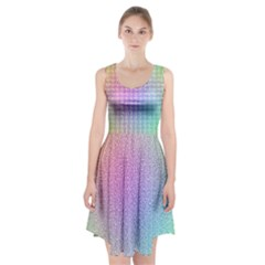 Rainbow Colorful Grid Racerback Midi Dress