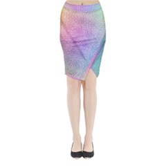 Rainbow Colorful Grid Midi Wrap Pencil Skirt