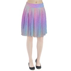 Rainbow Colorful Grid Pleated Skirt