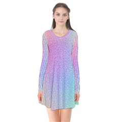 Rainbow Colorful Grid Flare Dress