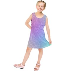 Rainbow Colorful Grid Kids  Tunic Dress