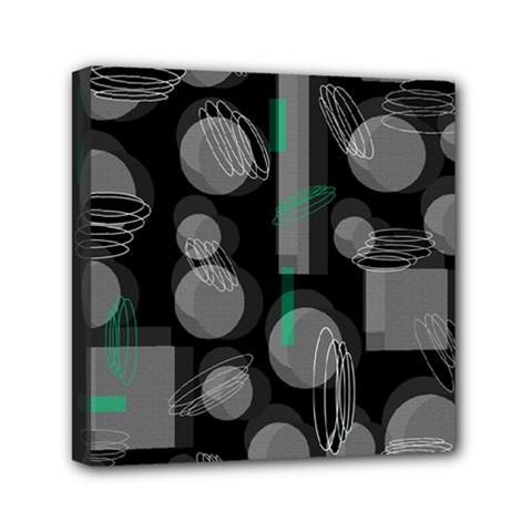 Come down - green Mini Canvas 6  x 6