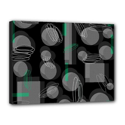 Come down - green Canvas 16  x 12