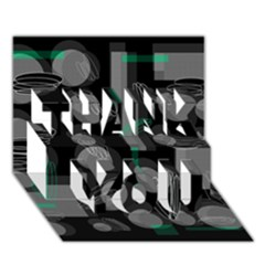 Come down - green THANK YOU 3D Greeting Card (7x5)