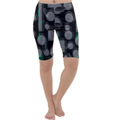 Come down - green Cropped Leggings