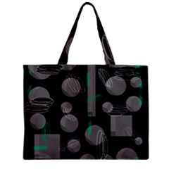Come Down   Green Zipper Mini Tote Bag