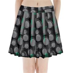 Come down - green Pleated Mini Skirt