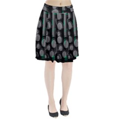 Come down - green Pleated Skirt
