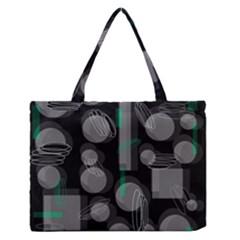 Come down - green Medium Zipper Tote Bag