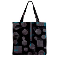 Come down - blue Zipper Grocery Tote Bag