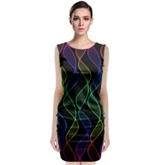 Rainbow Helix Black Classic Sleeveless Midi Dress