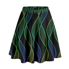 Rainbow Helix Black High Waist Skirt