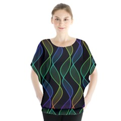 Rainbow Helix Black Blouse