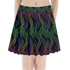 Rainbow Helix Black Pleated Mini Skirt