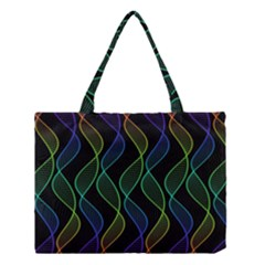 Rainbow Helix Black Medium Tote Bag