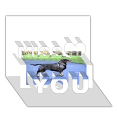 Wirehaired Dachshund Full Miss You 3d Greeting Card (7x5)