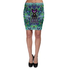 Lady Draccula With Flower Ghost And Love Bodycon Skirt