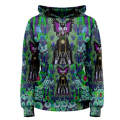 Lady Draccula With Flower Ghost And Love Women s Pullover Hoodie