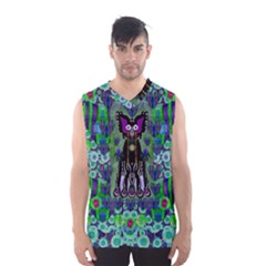 Lady Draccula With Flower Ghost And Love Men s Basketball Tank Top