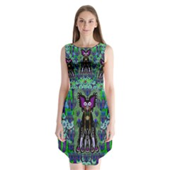 Lady Draccula With Flower Ghost And Love Sleeveless Chiffon Dress