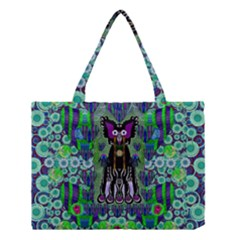 Lady Draccula With Flower Ghost And Love Medium Tote Bag