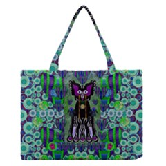 Lady Draccula With Flower Ghost And Love Medium Zipper Tote Bag