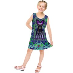 Lady Draccula With Flower Ghost And Love Kids  Tunic Dress