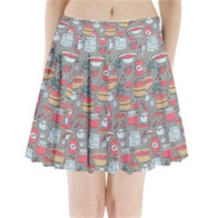 Jam Pattern Pleated Mini Skirt