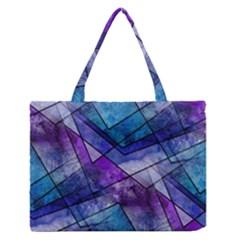 Night Shards Medium Zipper Tote Bag