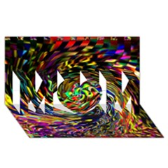 Abstract Art, Colorful, Texture Mom 3d Greeting Card (8x4)