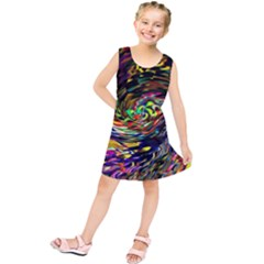 Abstract Art, Colorful, Texture Kids  Tunic Dress