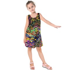 Abstract Art, Colorful, Texture Kids  Sleeveless Dress