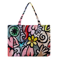 Abstract Doodle Medium Tote Bag