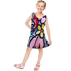 Abstract Doodle Kids  Tunic Dress