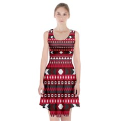 Asterey Red Pattern Racerback Midi Dress