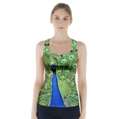 Bird Peacock Racer Back Sports Top