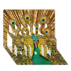 Bird Peacock Feathers You Did It 3D Greeting Card (7x5)