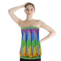 Block Pattern Kandi Pattern Strapless Top