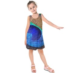 Blue Peacock Kids  Sleeveless Dress