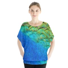 Blue Peacock Feathers Blouse